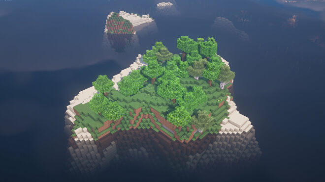A Minecraft screenshot of a new world created with the seed -4671266132020710557.