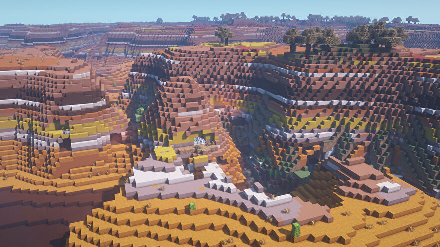 Mesa and Cave Spiders Minecraft Seed