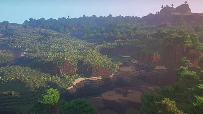 A Minecraft screenshot of a new world created with the seed 9816485297234.