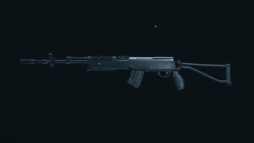 A screenshot of the SKS Marksman Rifle as it appears in the Call of Duty: Warzone Gunsmith.