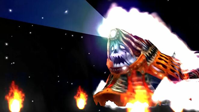 Doomtrain (a flaming, old fashioned steam train with a demonic face) from the Final Fantasy series