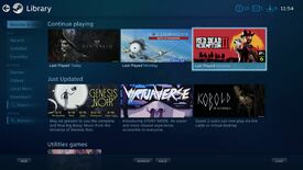 The interface for Steam's Big Picture mode