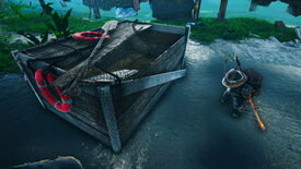 A Biomutant screenshot of the player standing next to a newly opened Googlide Wrekbox.