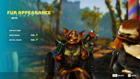 A Biomutant screenshot of the appearance customisation screen at Trim's shop.