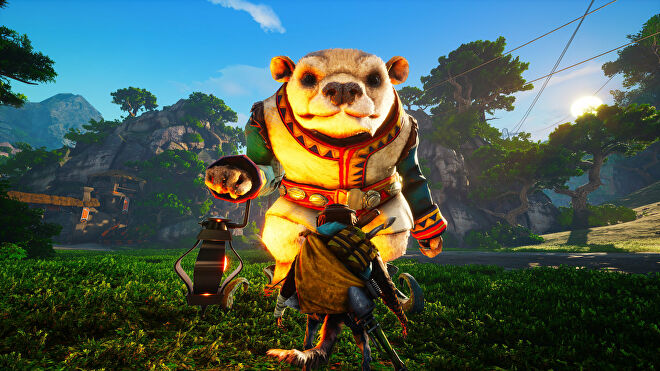 """A Biomutant screenshot of one of the """"mirage"""" side quest characters who you can interact with to delve into a past memory."""