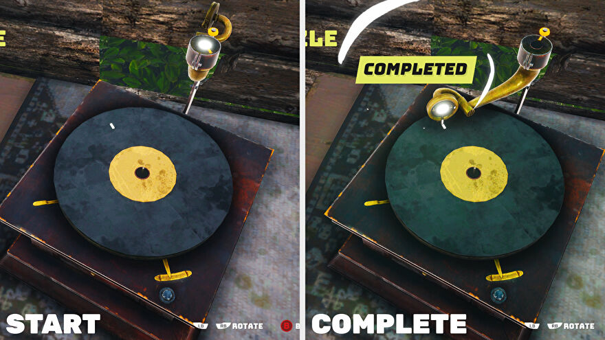 An example of a rotation puzzle in Biomutant.