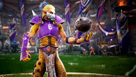 Tossing the ball in a Blood Bowl 3 screenshot.