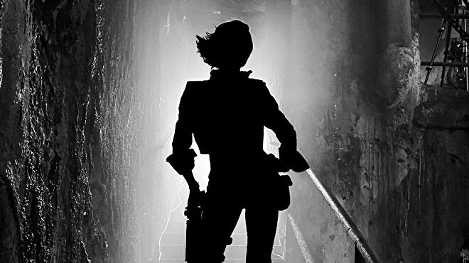 The silhouette of Cate Blanchett as Lilith in the Borderlands movie.