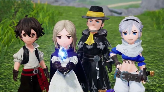 The main cast of Bravely Default 2