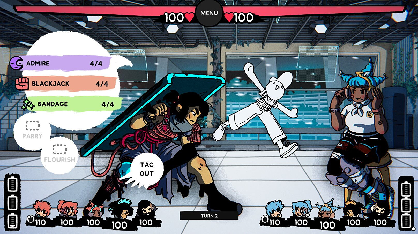 Fashion-brawling RPG Bravery Network Online is out now
