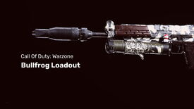 The COD Warzone Bullfrog on a dark background