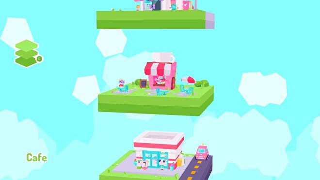 A look at Button City's cafe in diorama view.