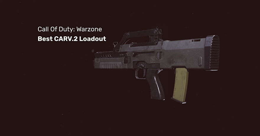 The CARV 2 tactical rifle in Warzone on a blank background.