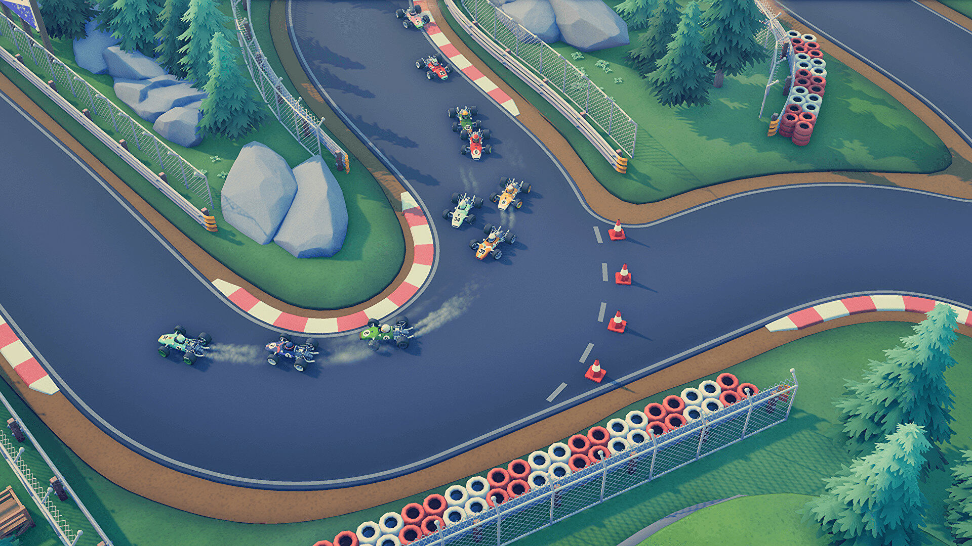 Top-down racer Circuit Superstars has hit the early access track