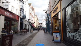 An image of a video taken from the streets of a city in the UK. Guessing which city is the aim of the game City Guesser.