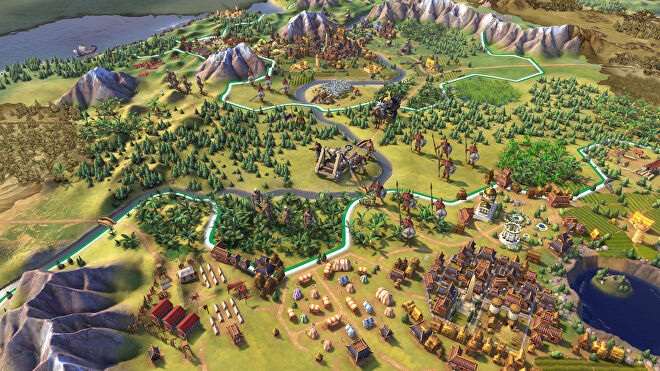 An overview of some civilisations in Civ 6.