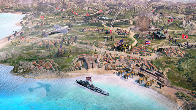 """Company Of Heroes 3's vibrant new """"dynamic map""""."""