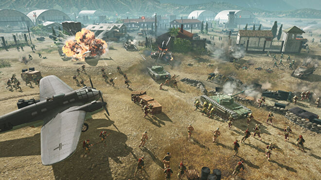 Several tanks, planes and lots of tiny soldiers are at war in Company Of Heroes 3.