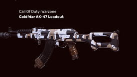 The Cold War AK-47 in Warzone on a blank background
