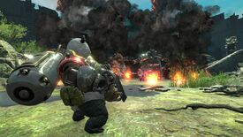 Image for You play a panda with a minigun in Contra: Rogue Corps