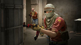 A man holds a gaudy AK-47 in a Counter-Strike: Global Offensive screenshot.