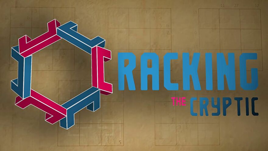 The Cracking The Cryptic logo screen - a channel dedicated to solving sudokus and other logic puzzles on YouTube