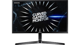 a picture of a Samsung C24RG50 24-in 144Hz gaming monitor with a curved VA panel