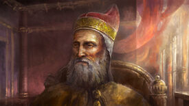An unlively ruler in Crusader Kings 2 art.