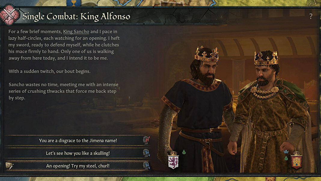 Crusader Kings 3's new duel system is built for pub fights as well as honourable challenges