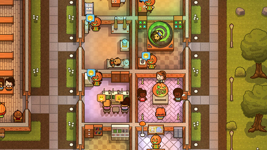 Cultists hang out in separate rooms in Honey I Joined A Cult