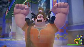 Wreck it Ralph carries Sora in Kingdom Hearts 3.