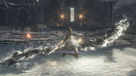 The Ashen One wielding the Blades Of Conquest in a screenshot from the Dark Souls 3 mod Blades Of Ashina.
