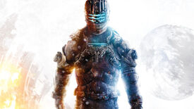 Isaac Clarke from Dead Space 3 standing in front of a white backdrop