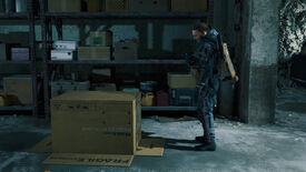 Sam stares at a box in the Death Stranding Director's Cut trailer.
