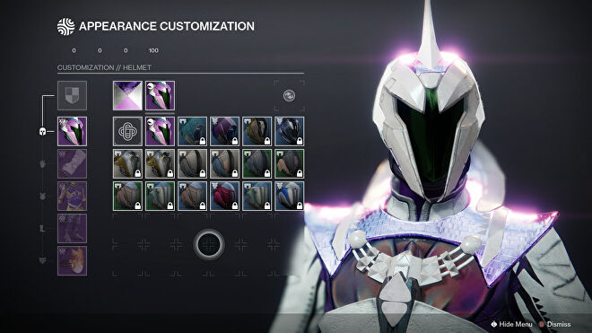 A peek at Destiny 2's appearance customisation screen coming with Armor Synthesis.