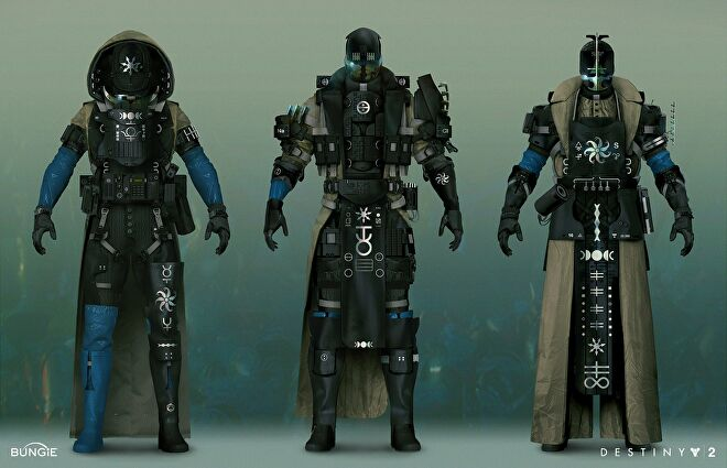 Concept art for Destiny 2: The Witch Queen armour, apparently called Nova gear.