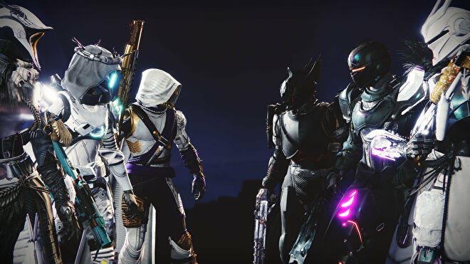 Two Trials Of Osiris teams face off at the start of a match in a Destiny 2 screenshot.