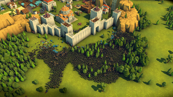 Hordes of soldiers fight in a giant battle in Diplomacy Is Not An Option