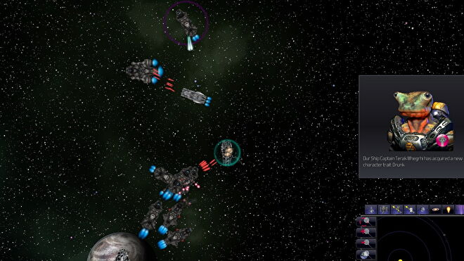 A screenshot of a space battle in Distant Worlds