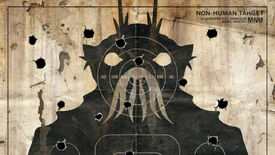 A target cutout of an alien face from District 9