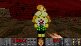 Image for Rip and tear with Animal Crossing's Isabelle in this Doom II mod