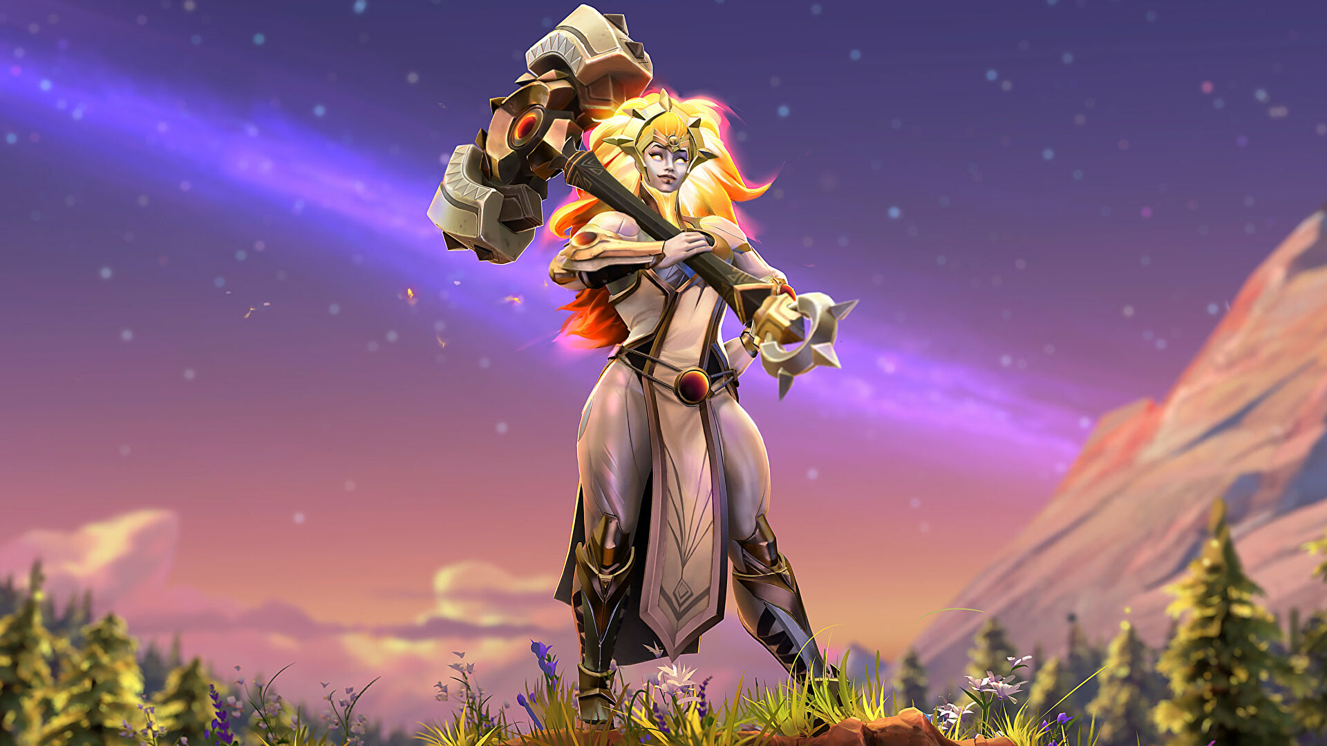 Dota 2's new wizard is a giant lady with a giant hammer
