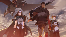 Dragon Knight and friends in the Dota: Dragon's Blood anime.