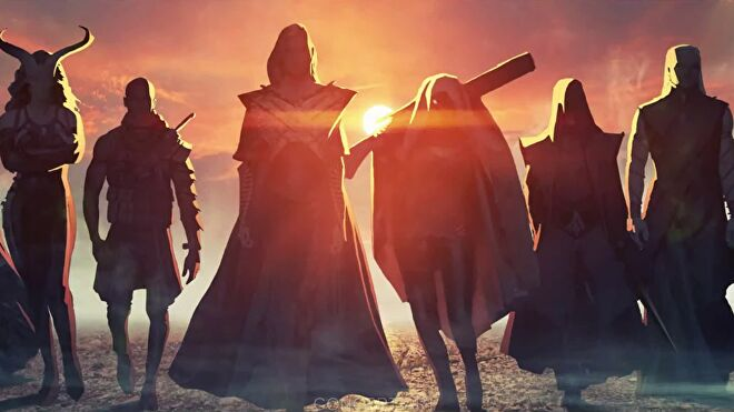 Art for the upcoming Dragon Age 4. It shows silhouettes of characters that could be companions.