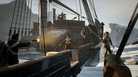 Sailors with swords and guns fight in a Dread Hunger screenshot.