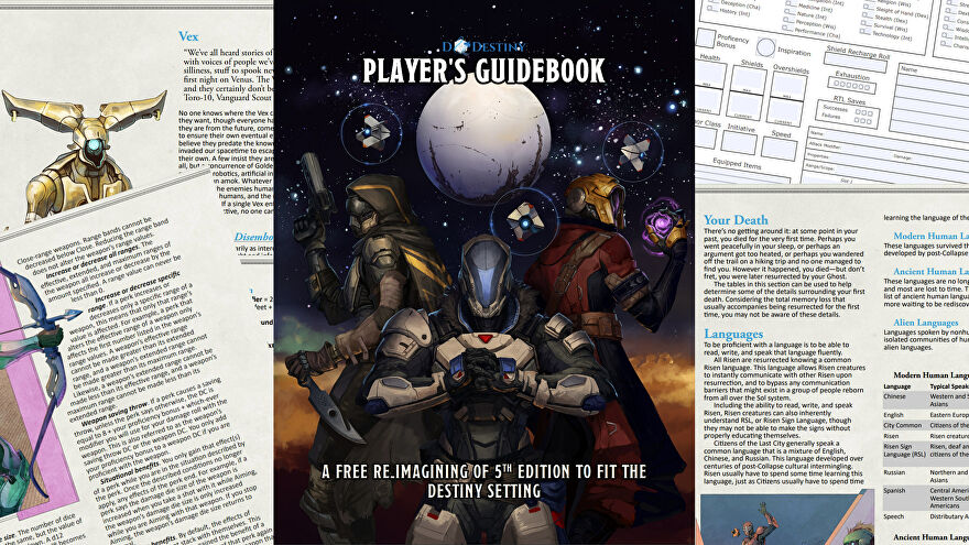 Pages from Dungeons & Destiny.