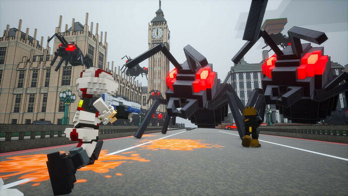 Image for The voxelly Earth Defense Force: World Brothers is out this month