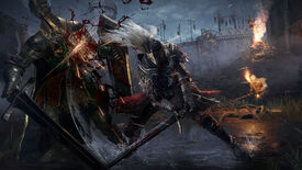 An armoured warrior slices a foe with their sword in an Elden Ring screenshot.