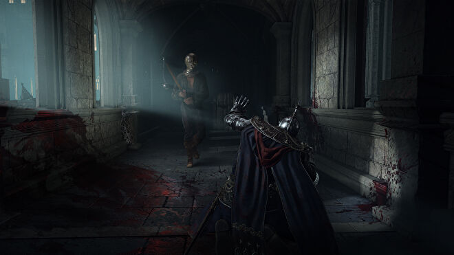 An armoured warrior pleads for mercy in an Elden Ring screenshot.