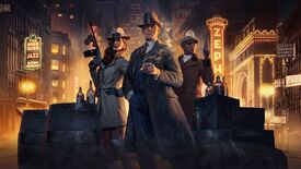 Mobsters posing in Empire Of Sin artwork.